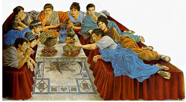 Triclinium cibo e convivialit nell 39 antica roma cucine d for Cibi tipici di roma