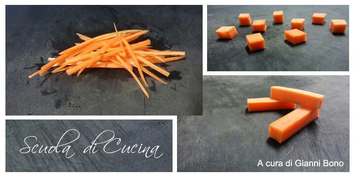 Tutti i tagli della carota