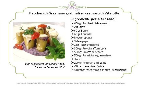 ingredienti paccheri