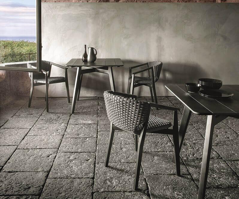 L 39 arredo outdoor by ethimo cucine d 39 italia for Poltroncine outdoor