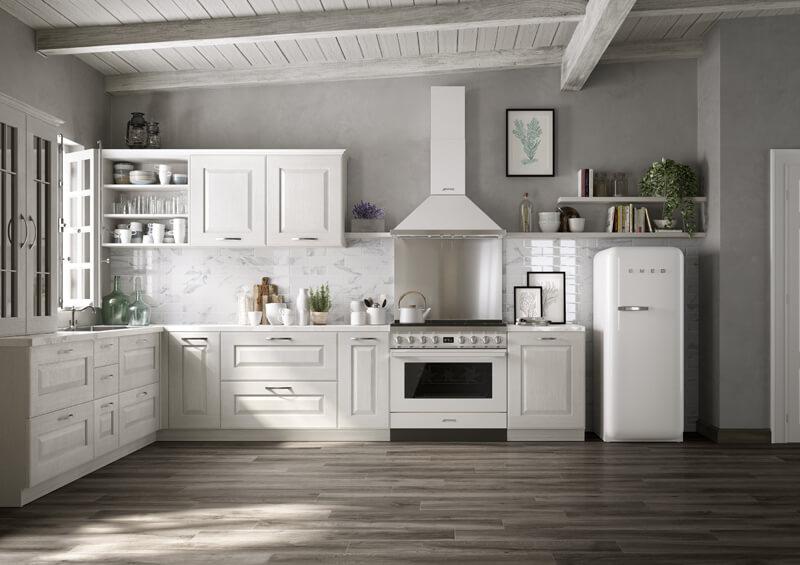 Le cucine smeg e i colori di portofino cucine d 39 italia - Cucine con frigo smeg ...