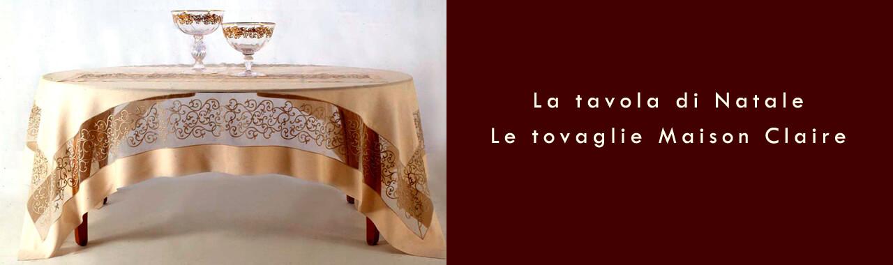 La tavola di natale le tovaglie maison claire cucine d 39 italia - La tavola di melusinda ...
