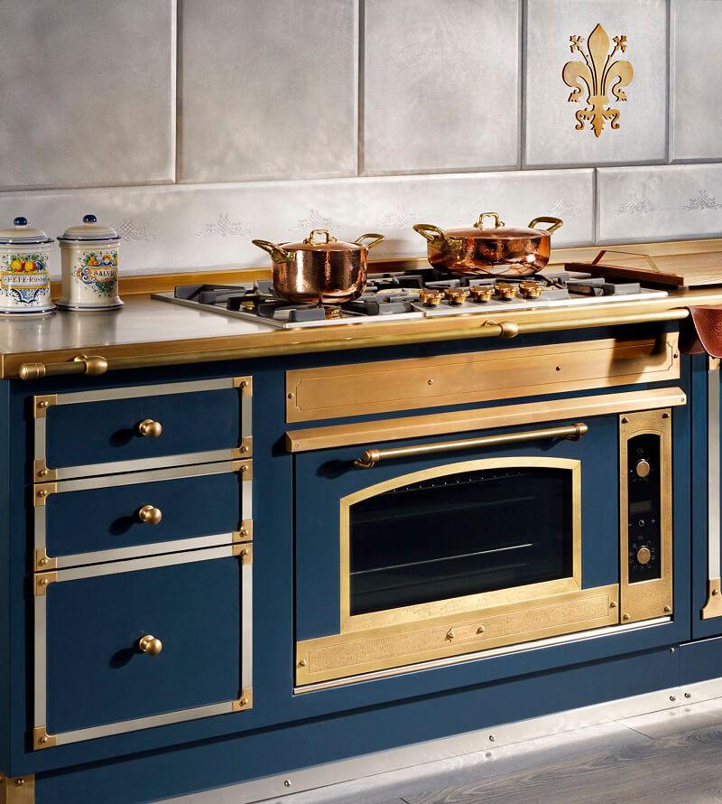 Officine Gullo: Blu Profondo in cucina Cucine d\'Italia