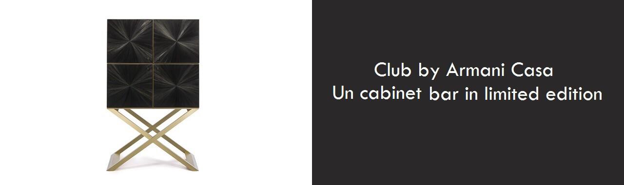 Club by Armani Casa: il cabinet bar in limited edition