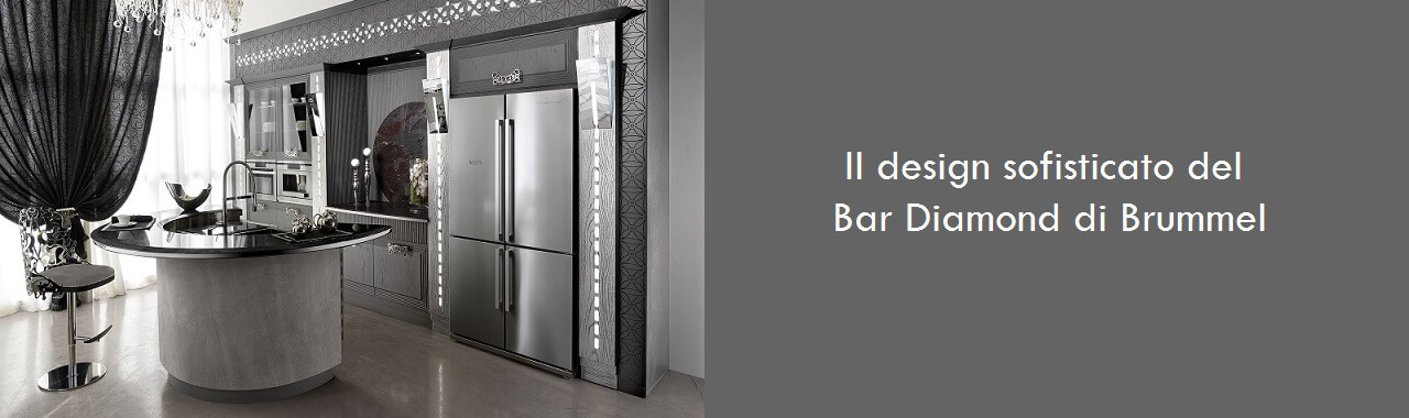 Il design sofisticato del bar Diamond di Brummel