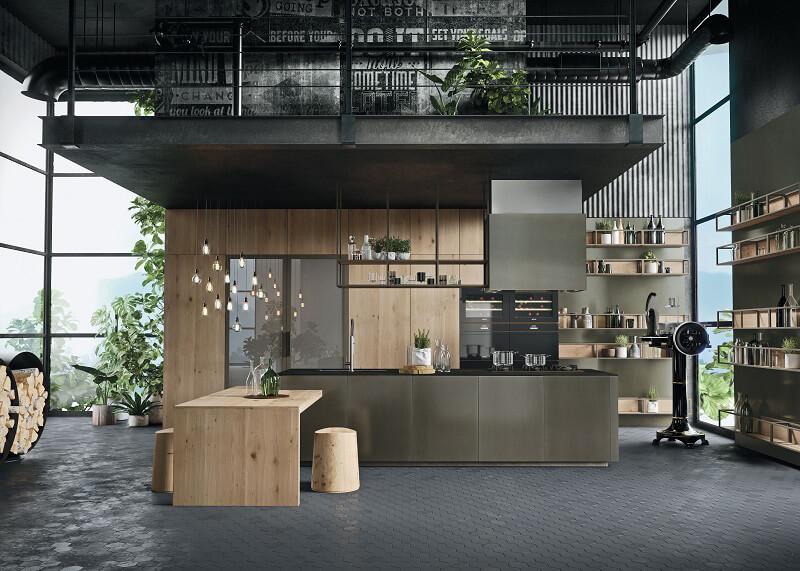 Anta in alluminio per la nuova cucina Opera di Snaidero Cucine d\'Italia