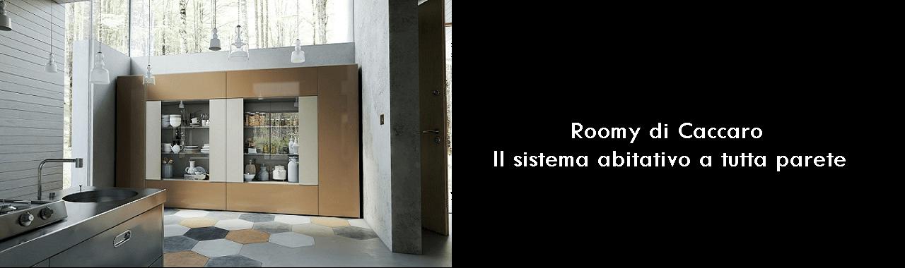 Roomy di Caccaro: il sistema abitativo a tutta parete