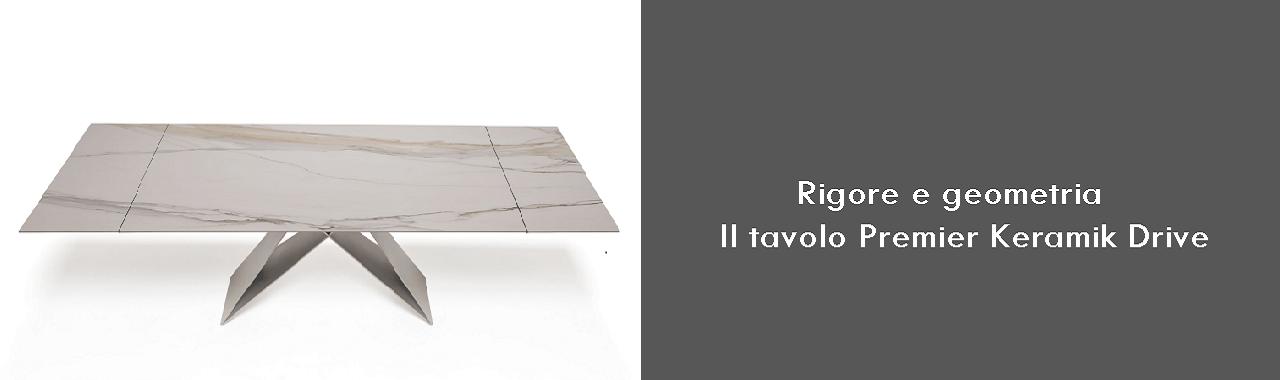 Rigore e geometria: il tavolo Premier Keramik Drive