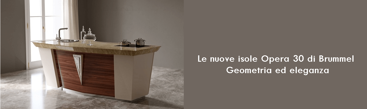 Le nuove isole Opera 30 di Brummel: geometria ed eleganza