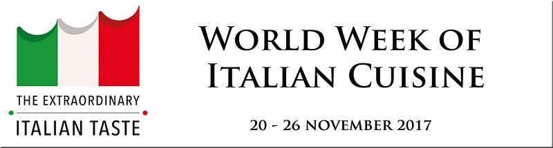 Italian Cuisine Week in the World