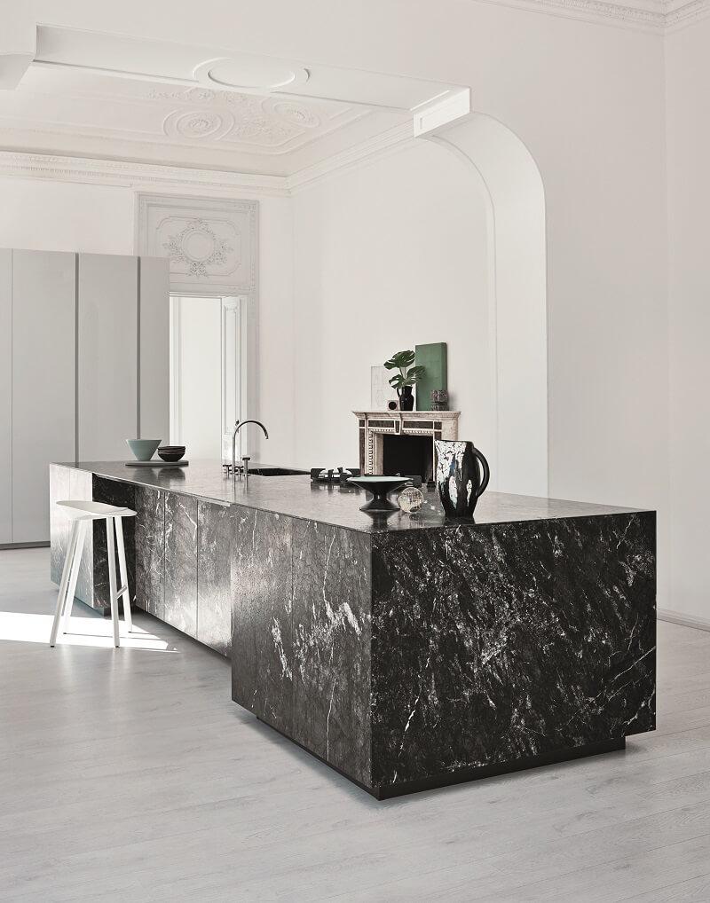 Cucina N_Elle Cesar Marmo Grey Saint Laurent_Laccato Cenere