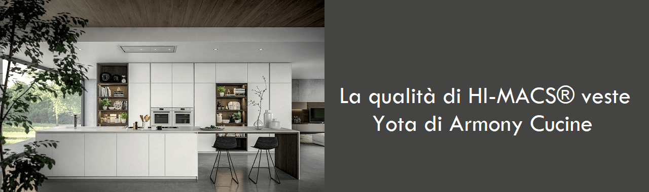 La qualità di HI-MACS® veste Yota di Armony Cucine Cucine d\'Italia