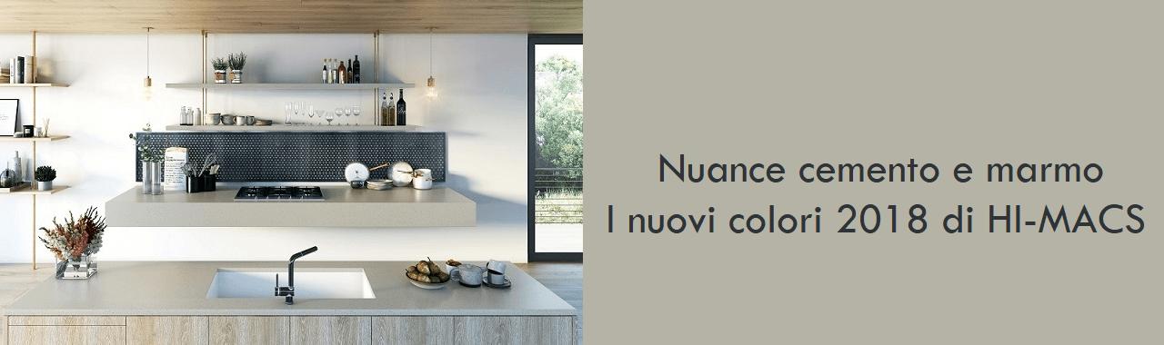 Nuance cemento e marmo: i nuovi colori 2018 di HI-MACS
