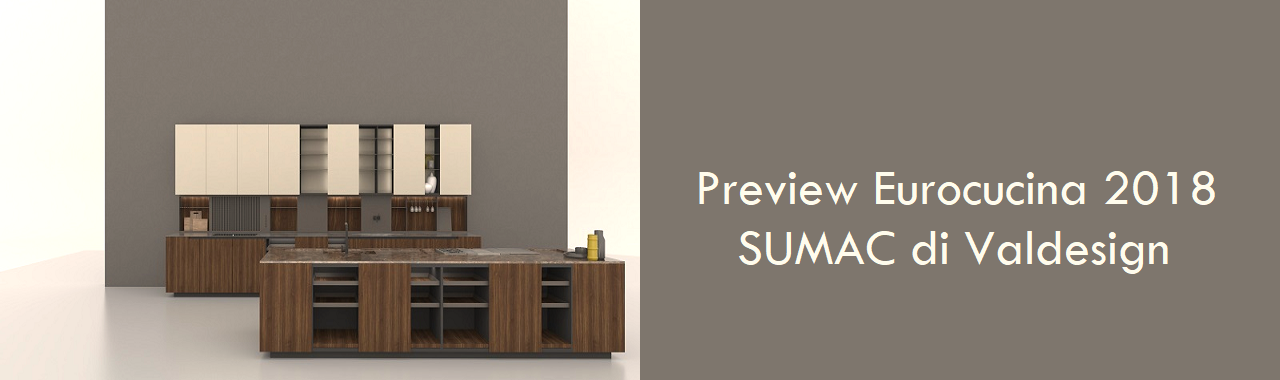 Preview Eurocucina 2018: SUMAC di Valdesign