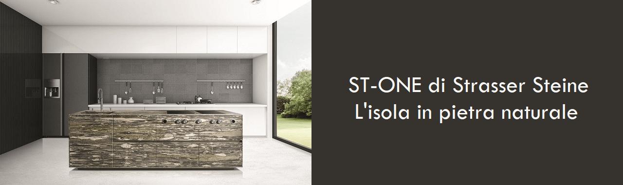 ST-ONE di Strasser: l'isola in pietra naturale