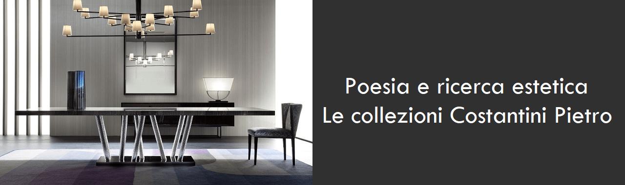 Poesia e ricerca estetica: le collezioni Costantini Pietro
