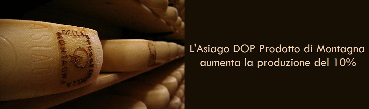L'Asiago DOP Prodotto di Montagna aumenta la produzione del 10%