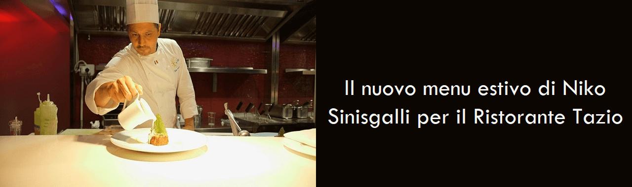 Il nuovo menu estivo di Niko Sinisgalli per il Ristorante Tazio di Roma