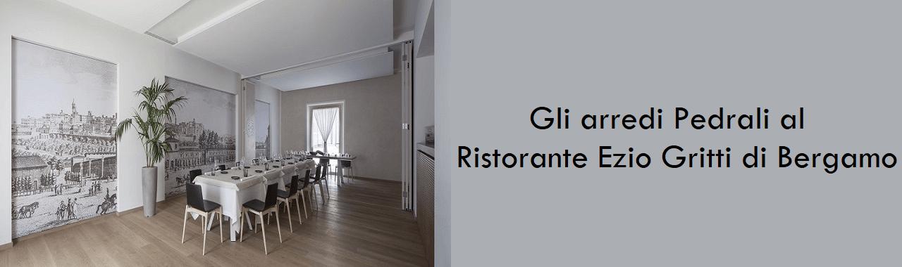 Gli arredi Pedrali al Ristorante Ezio Gritti di Bergamo