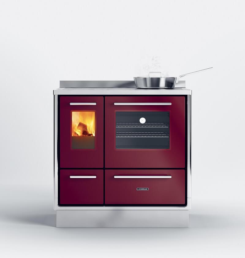 Moderna: la nuova cucina a legna firmata J.Corradi Cucine d\'Italia