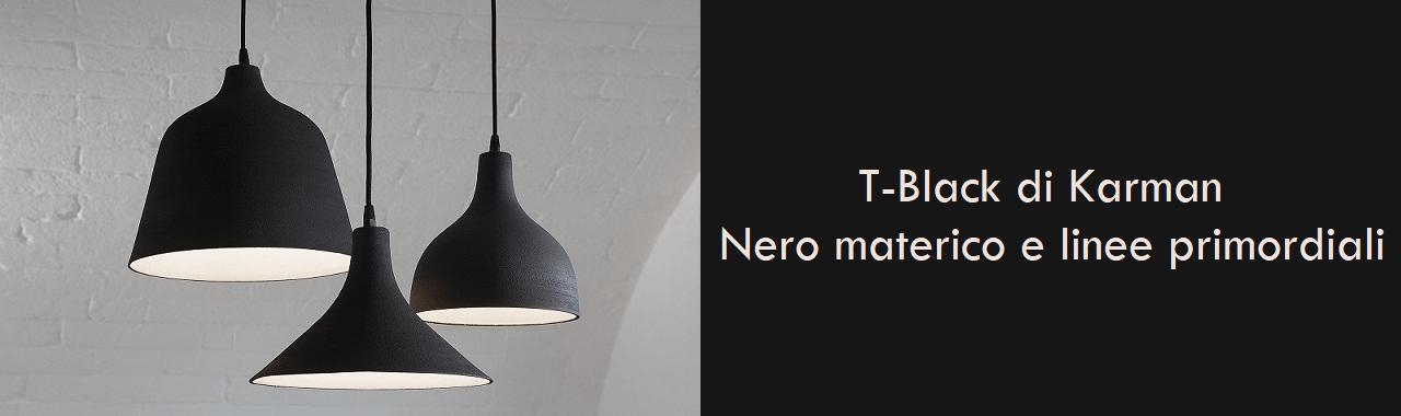 T-Black di Karman: nero materico e linee primordiali