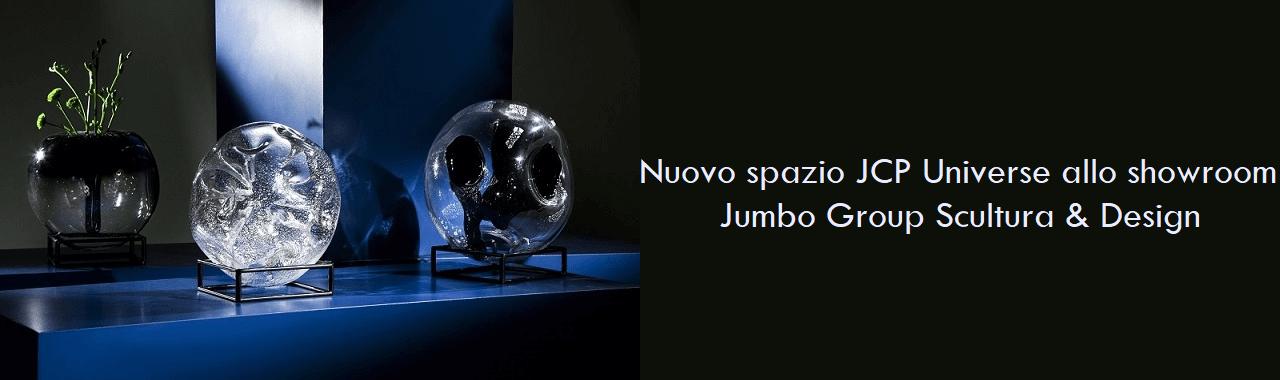 Nuovo spazio JCP Universe allo showroom Jumbo Group Scultura & Design