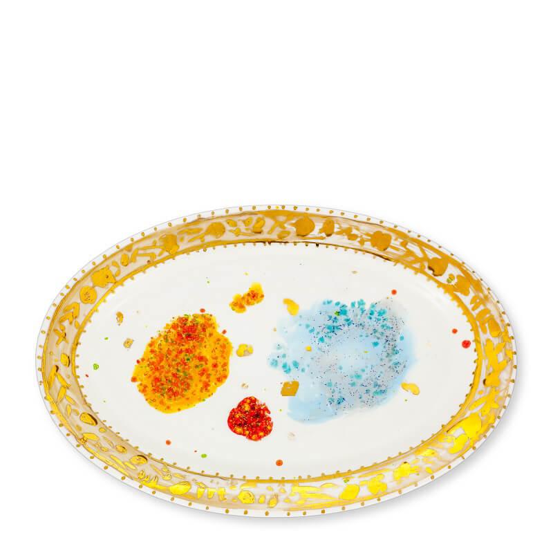 Coralla Maiuri Villa Borghese_Caravaggio_oval plate