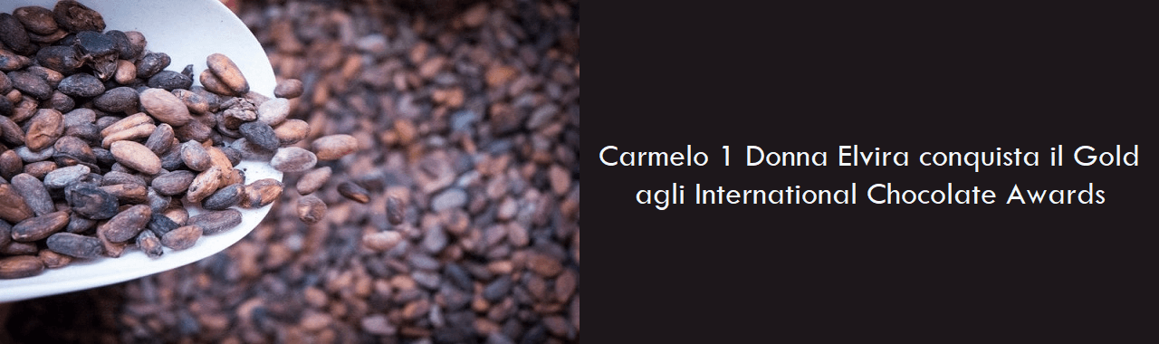 Carmelo 1 Donna Elvira conquista il Gold agli International Chocolate Awards