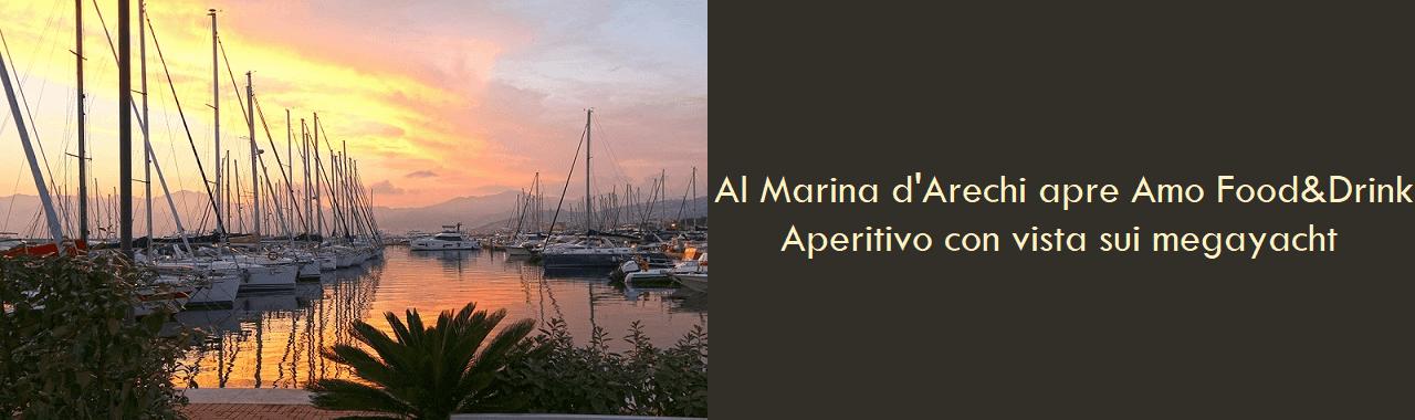 Al Marina d'Arechi apre Amo Food&Drink: aperitivo con vista sui megayacht