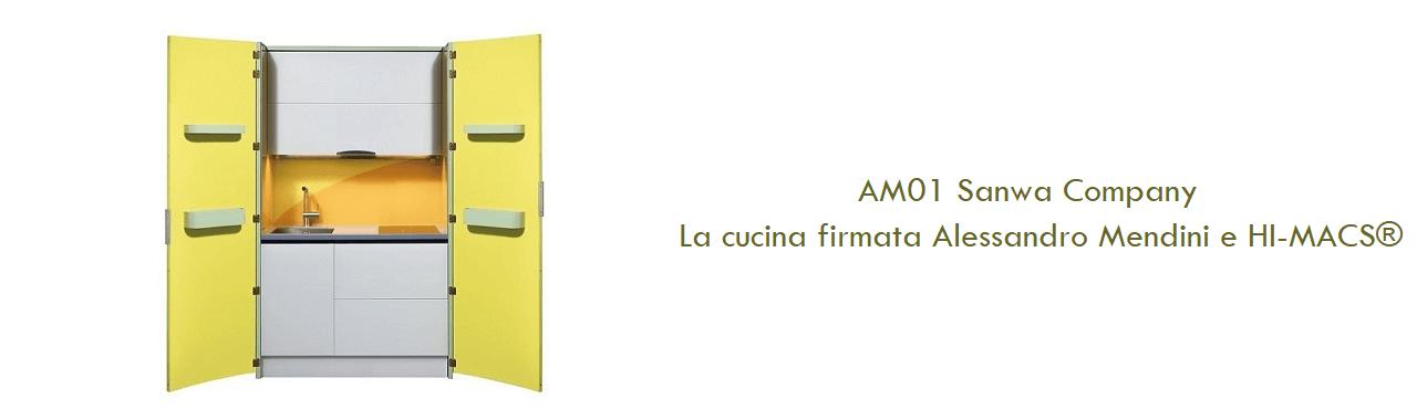 AM01 Sanwa Company: la cucina firmata Alessandro Mendini e HI-MACS®