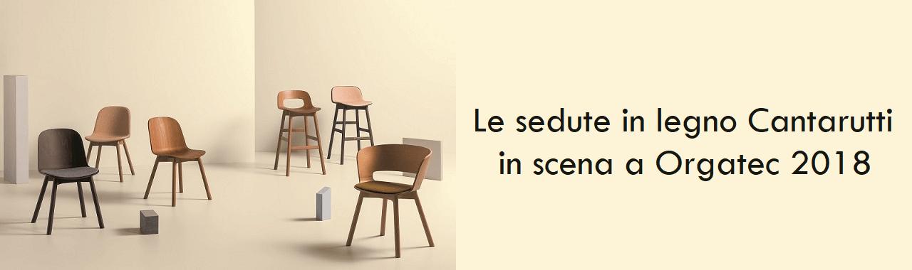 Le sedute in legno Cantarutti in scena a Orgatec 2018
