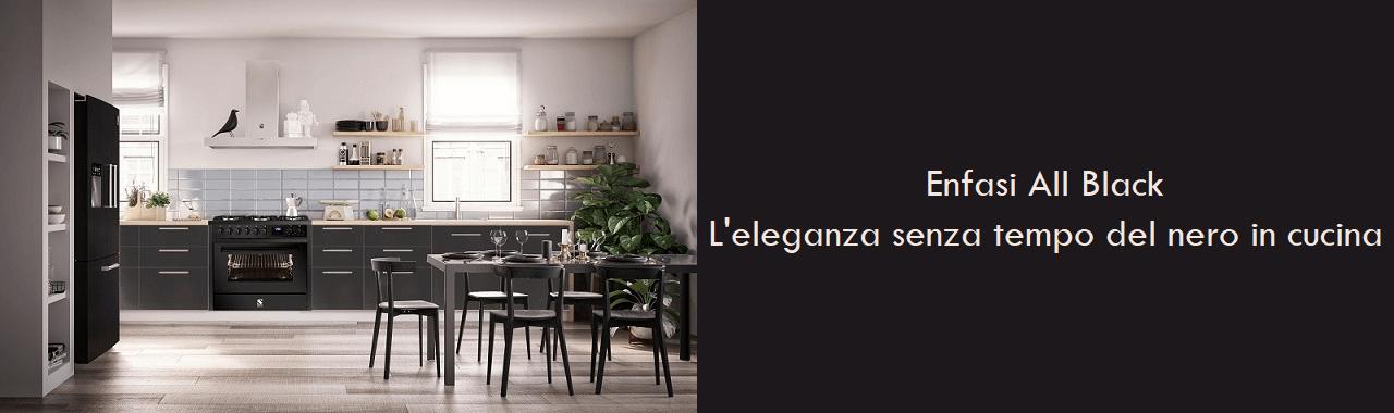 Enfasi All Black: l'eleganza senza tempo del nero in cucina