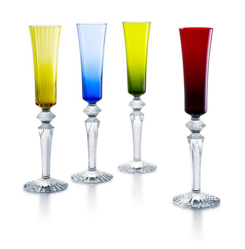 Colore in tavola Mille nuits Flutissimo Baccarat