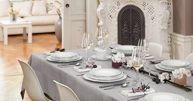 mise en place di capodanno platino anmut platino villeroy boch