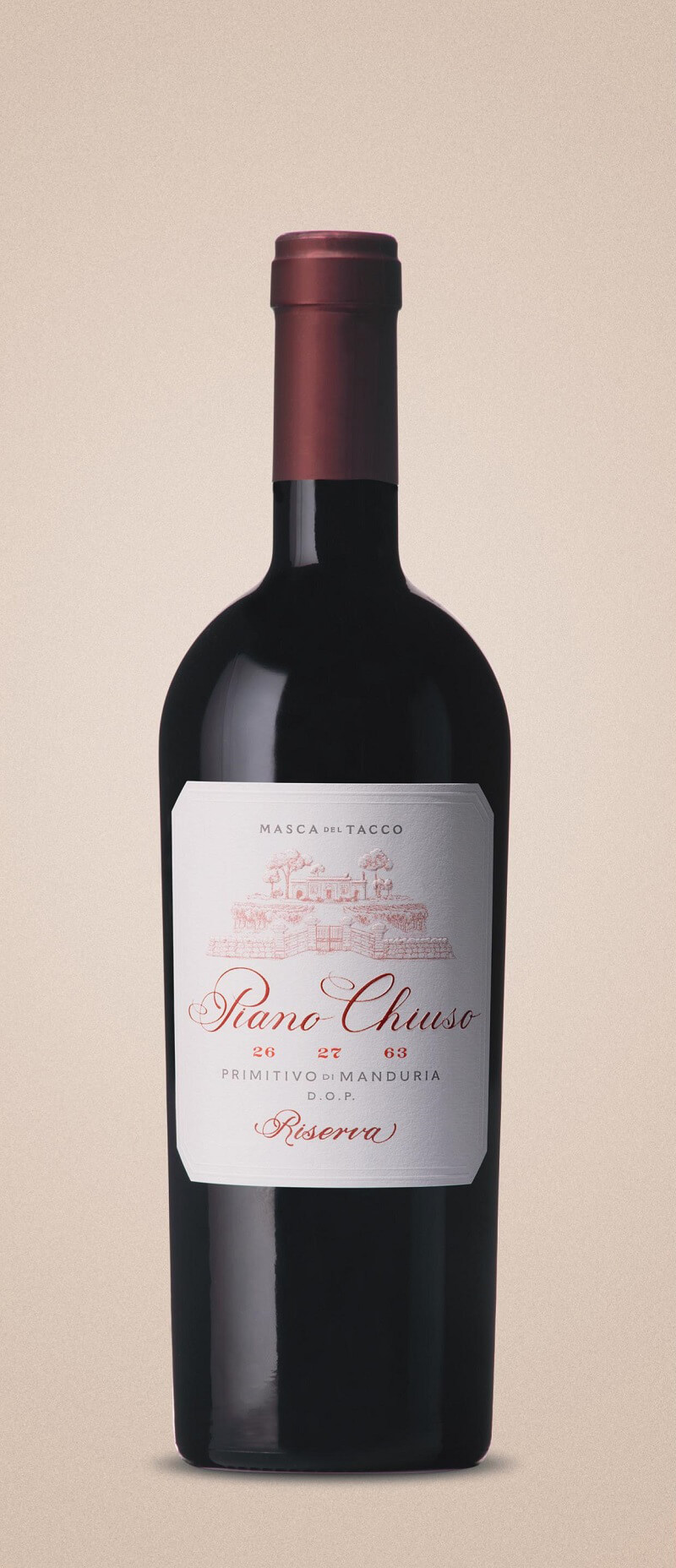 Vino rosso Piano Chiuso Primitivo di Manduria 2015