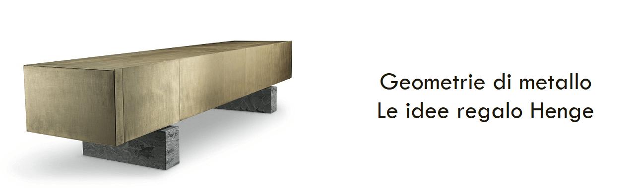 Geometrie di metallo: le idee regalo Henge