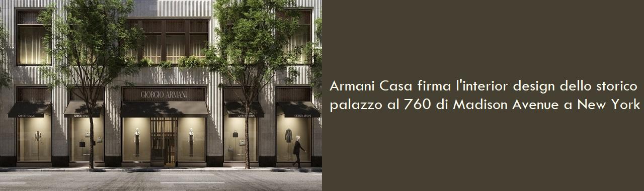 Armani Casa firma l'interior design dello storico palazzo di Madison Avenue a New York