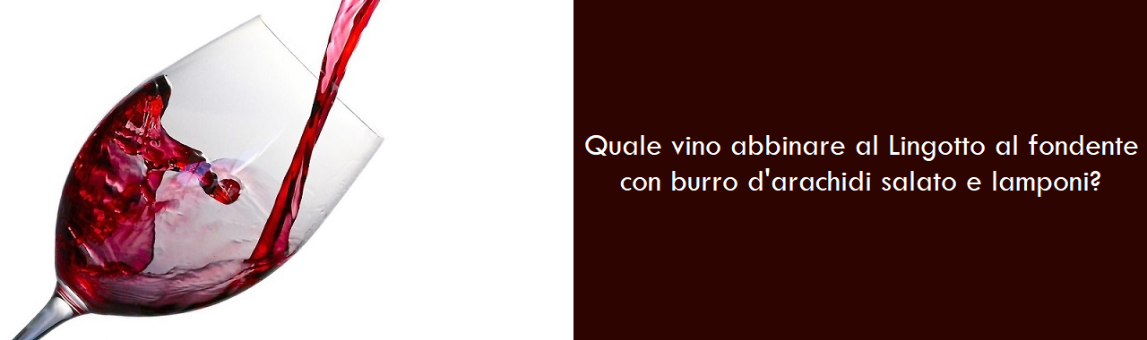 Quale vino abbinare al Lingotto al fondente con burro d'arachidi salato e lamponi?