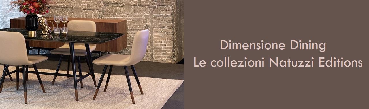 Dimensione Dining: le proposte Natuzzi Editions