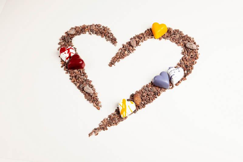 San Valentino al cioccolato Composizione ciocco Knam