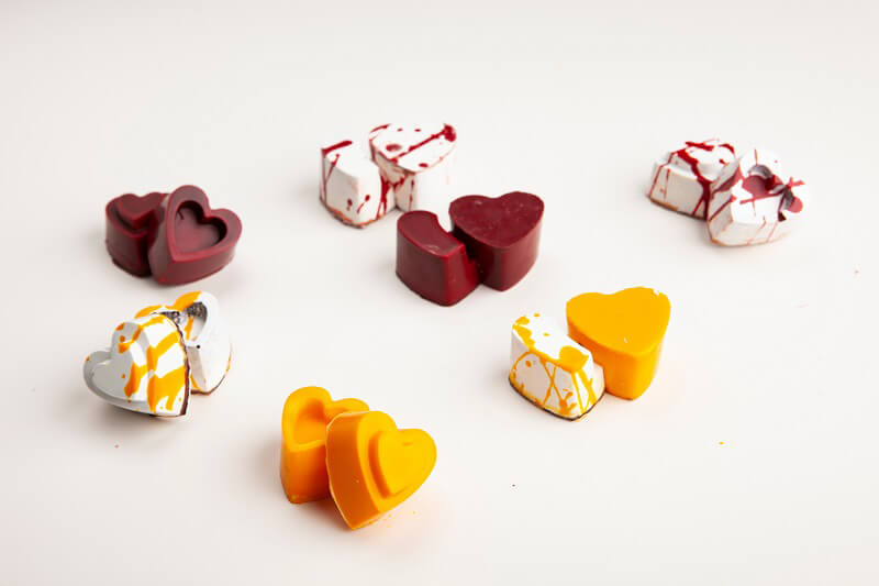 San Valentino al cioccolato Cuori a incastro Knam