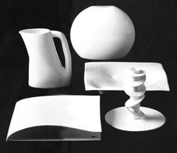 Gabriele Devecchi / Lente, Vento, Quattro/Tre, Rombo, Vite / 1990 / per Richard Ginori