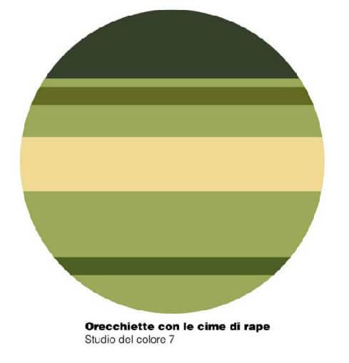 Orecchiette con le cime di rape - studio del colore 7