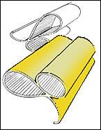 Ispirata alla sezione di una guarnizione di un vecchio prodotto industriale, con il risultato di due ovali che si intersecano a formare un' onda con una piccola coda, le Marille hanno delle rigature all' interno per raccogliere il sugo.