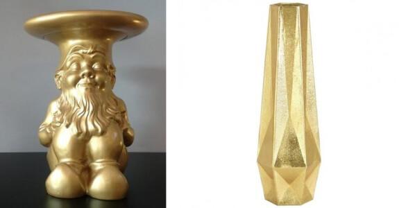 Napoleon Oro Kartell - Gem vas Tall Vaso da tavola Tom dixon