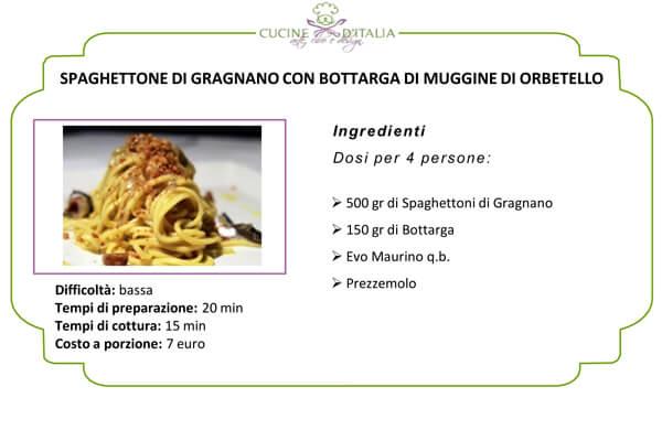 Spaghettone di Gragnano con Bottarga di Muggine di Orbetello
