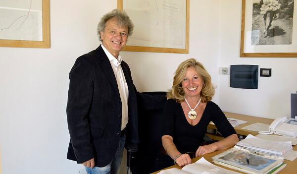 Renzo Stucchi con la moglie Rosella