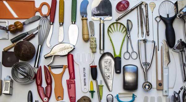 Utensili in mostra all'ottava edizione del Triennale Design Museum – 'Cucine e Ultracorpi'