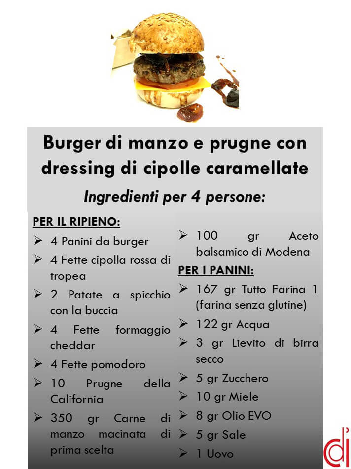 scheda ingredienti hamburger frontalini