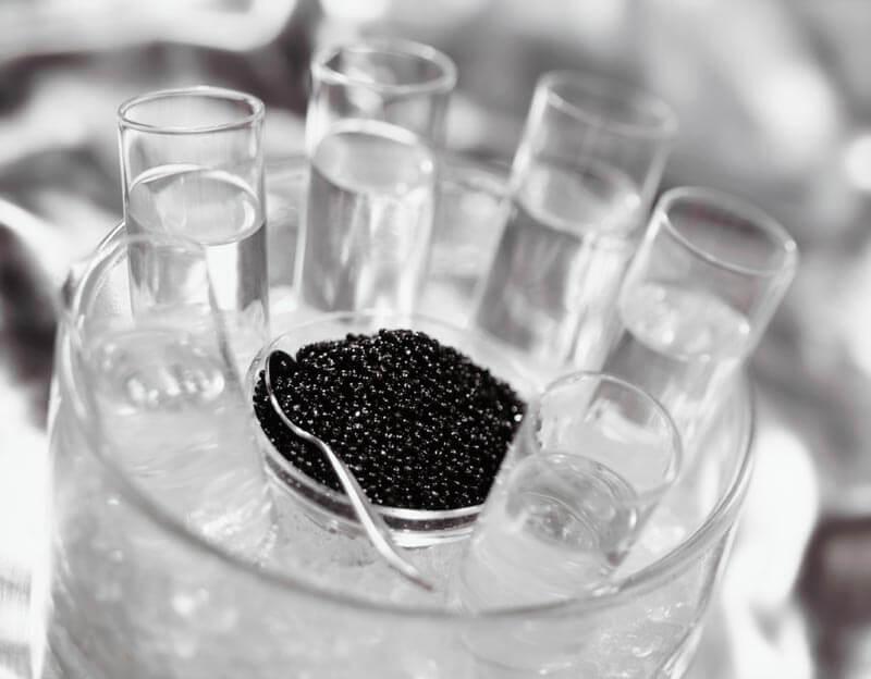 abbinare caviale e vino - vodka